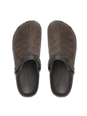 Crocs Men Brown Genuine Leather Clogs