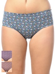 Lady Lyka Women Pack of 3 Floral Print Hipster Briefs