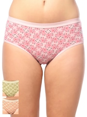 Lady Lyka Women Pack of 3 Printed Hipster Briefs