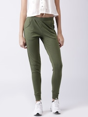 2GO Olive Green Running Track Pants