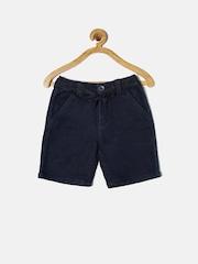 Gini and Jony Boys Navy Solid Regular Fit Denim Shorts