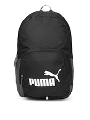 PUMA Unisex Black & Grey Phase Backpack