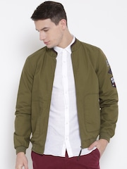 United Colors of Benetton Olive Green Bomber Jacket