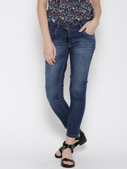 Park Avenue Women Blue Slim Fit Mid-Rise Clean Look Jeans