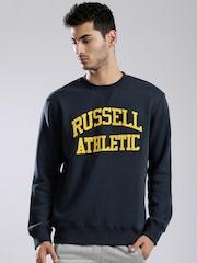 Russell Athletic Navy Appliqu Detail Sweatshirt