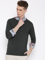 Pepe Jeans Men Charcoal Grey Solid Sweater