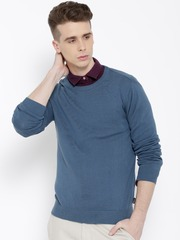 Pepe Jeans Men Blue Solid Sweater