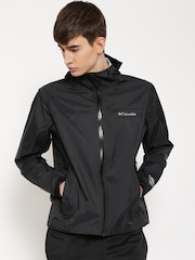 Columbia Black Evapouration Hooded Rain Jacket