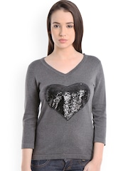 Manola Women Grey Solid Regular Top
