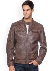 Teakwood Leathers Brown Leather Jacket