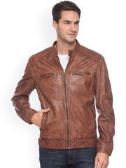 Teakwood Leathers Tan Brown Leather Jacket