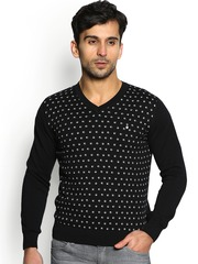 Blackberrys Men Black Printed Sweater