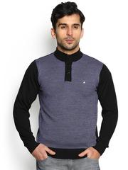 Blackberrys Men Black Patterned Sweater