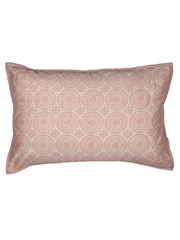 MASPAR Off-White & Pink Printed 20 x 30 Rectangular Pillow Cover