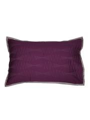 MASPAR Purple Embroidered 20 x 30 Rectangular Pillow Cover