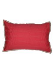 MASPAR Red Embroidered 20 x 30 Rectangular Pillow Cover