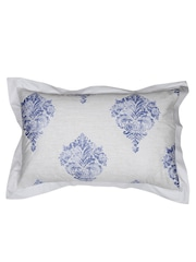MASPAR Grey & Blue Printed 20 x 30 Rectangular Pillow Sham