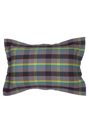 MASPAR Grey Checked 20 x 30 Rectangular Pillow Sham