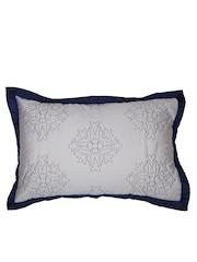 MASPAR White & Blue 20 x 30 Rectangular Pillow Sham