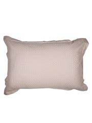 MASPAR Beige Embroidered 20 x 30 Rectangular Pillow Sham
