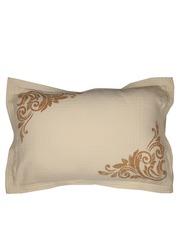 MASPAR Cream-Coloured Single Printed 20 x 30 Rectangular Pillow Sham