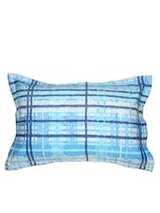 MASPAR Blue Checked 20 x 30 Rectangular Pillow Cover