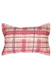 MASPAR Pink Checked 20 x 30 Rectangular Pillow Cover