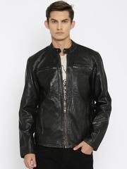 Jack & Jones Black Leather Jacket