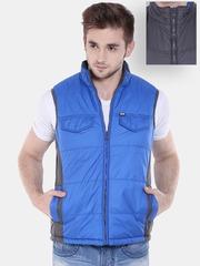 Arrow Sport Blue Sleeveless Reversible Jacket