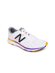 New Balance Women White Running Shoes
