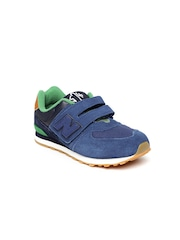 New Balance Boys Blue Solid Sneakers