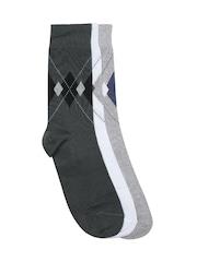 INVICTUS Men Set of 3 Patterened Above Ankle-Length Socks