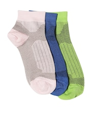 DressBerry Women Set of 3 Patterned Ankle-Length Socks