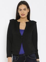Fort Collins Black Patterned Coat