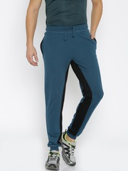 HRX by Hrithik Roshan Teal Blue & Black Active Jogger Track Pants