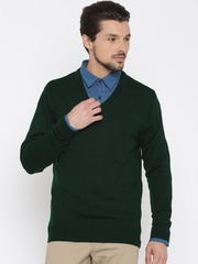 Peter England Casuals Green Sweater