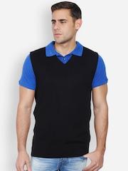 Peter England Men Black Sweater