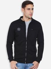 Peter England Men Black Sweatshirt