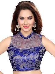 Ishin Blue Saree Blouse