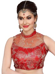 Ishin Red Saree Blouse