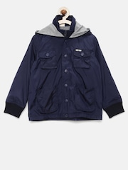 UFO Boys Navy Hooded Jacket
