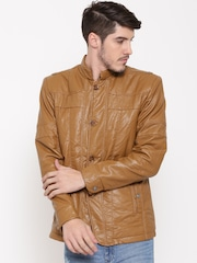 Fort Collins Tan Brown Faux Leather Jacket
