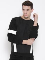 Fort Collins Black Panelled Sweatshirt