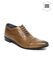 Louis Philippe Men Tan Brown Genuine Leather Oxford Shoes