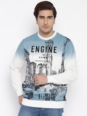 Monte Carlo Blue & White Printed Sweatshirt