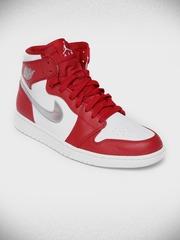 Nike Men Red Air Jordan 1 Retro High Basketball Shoes
