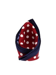 Tossido Maroon & Blue Printed Pocket Square