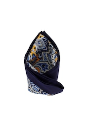 Tossido Blue Printed Pocket Square