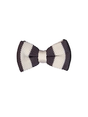 Tossido Grey & White Striped Bow Tie