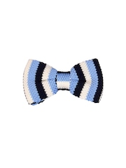 Tossido Blue & White Striped Bow Tie
